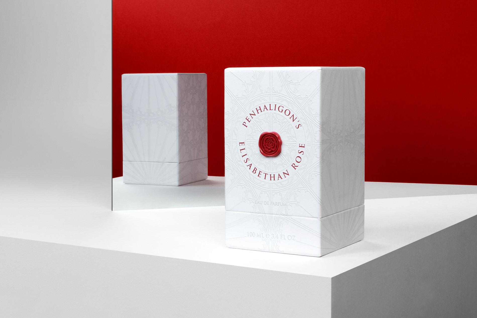 Penhaligon's Elisabethan Rose packaging design