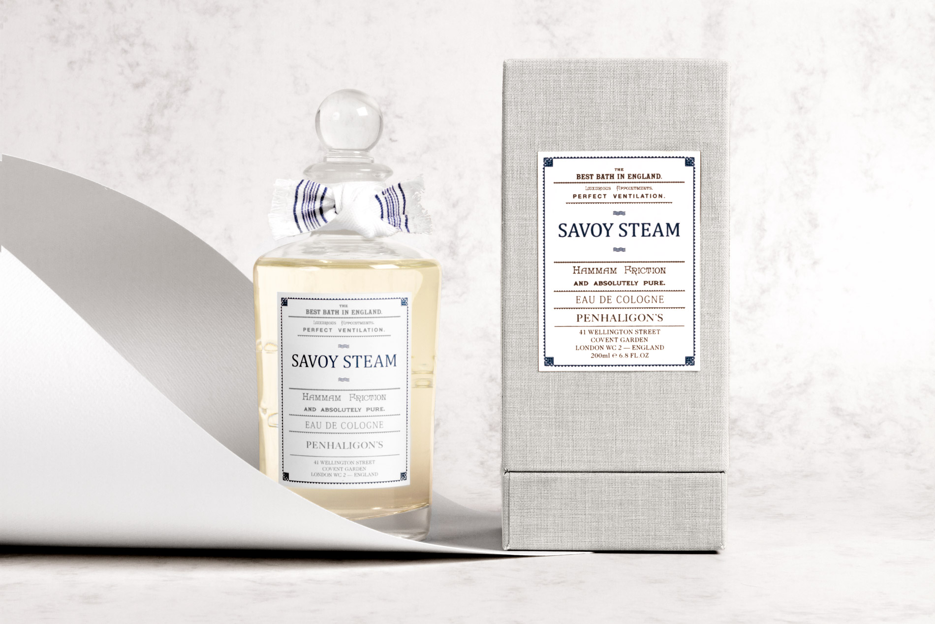 Diseño de packaging Penhaligon's Savoy Noreste estudio