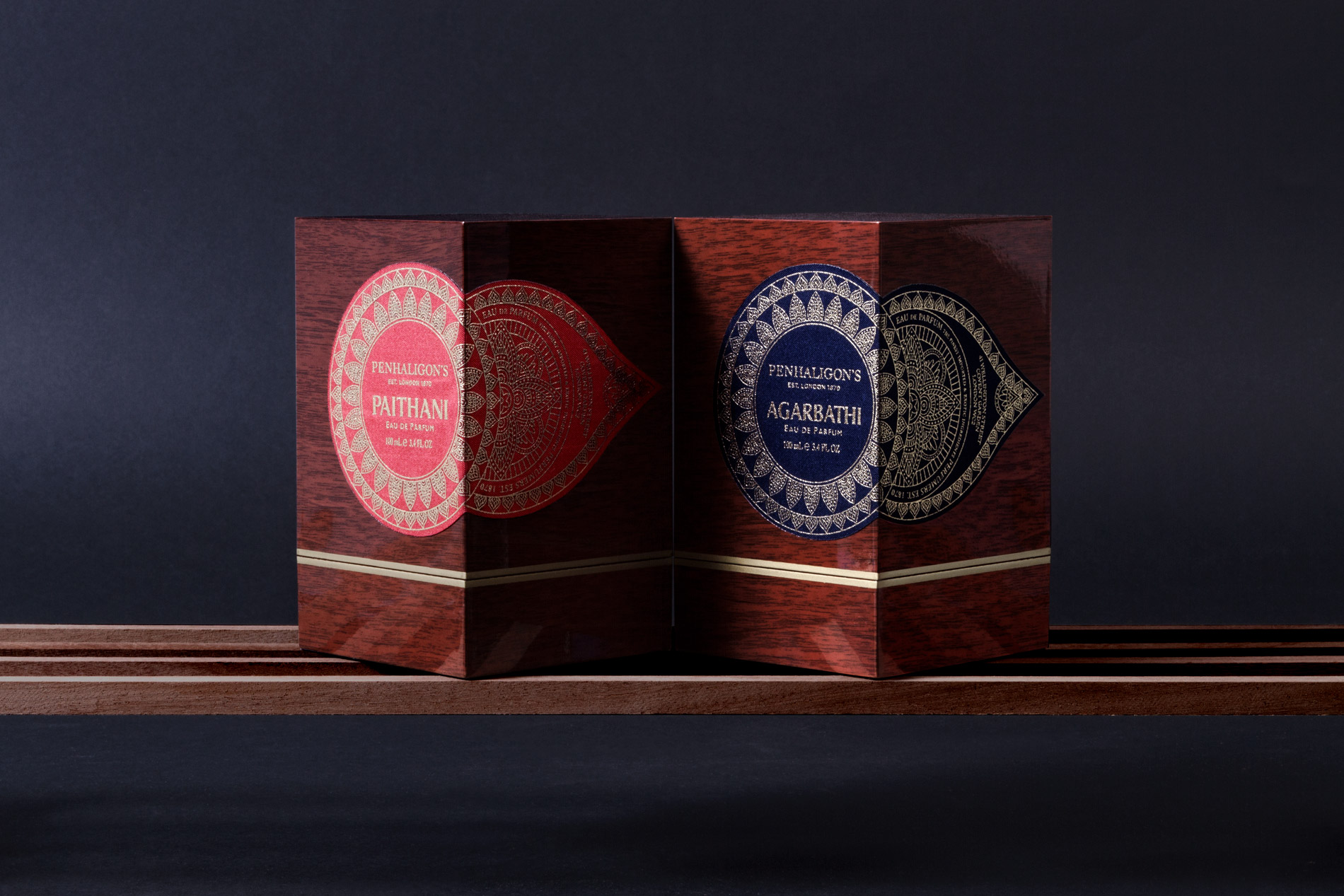 Diseño de packaging Trade Routes Penhaligon's Noreste