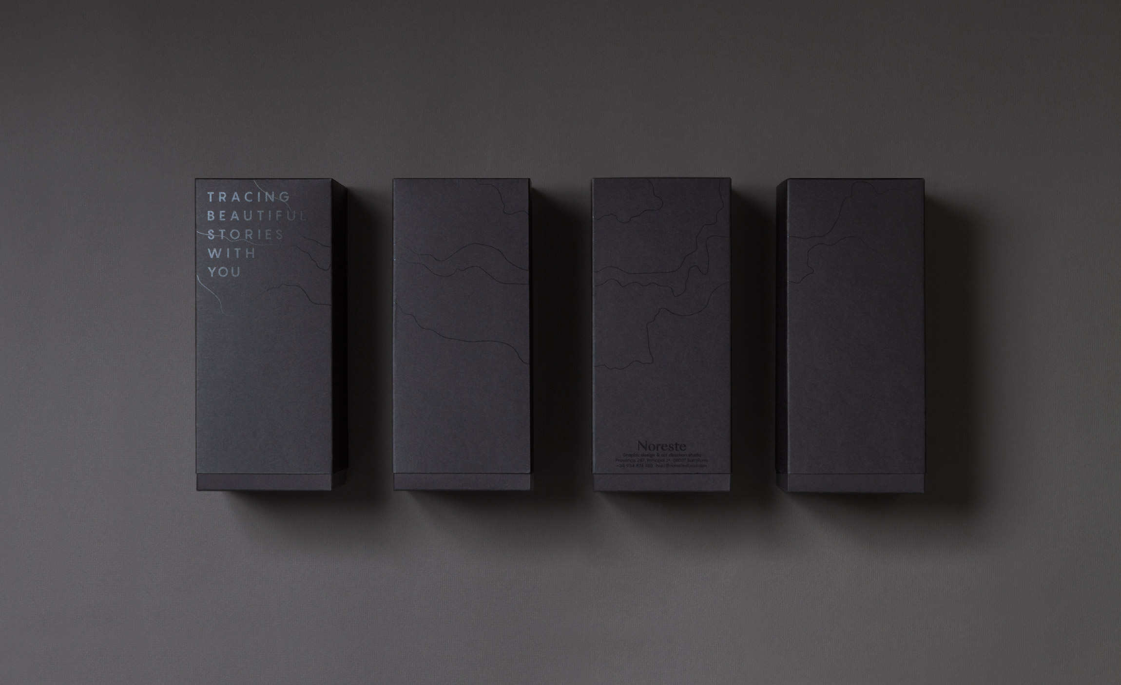 Diseño packaging topográfico Noreste studio