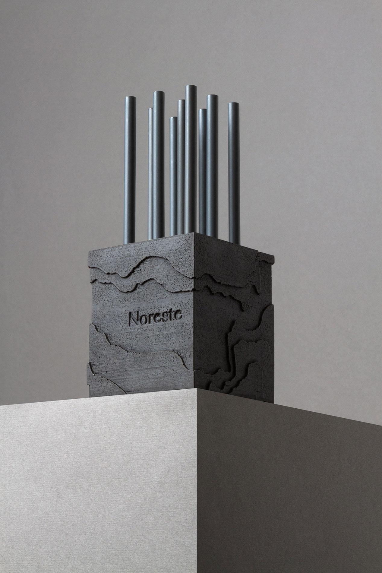 Lapicero cemento cuadrado Noreste studio
