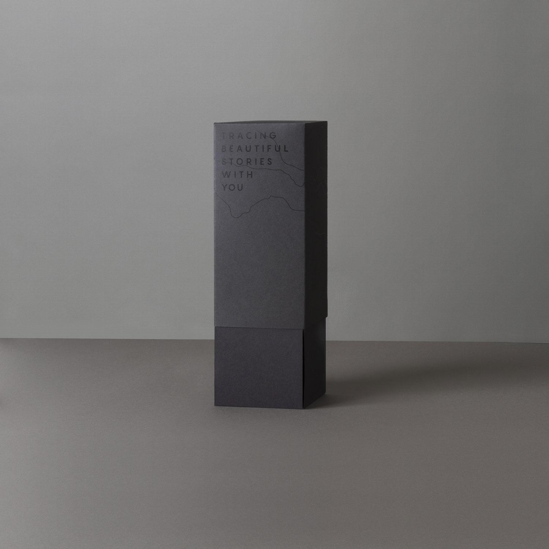 Lapicero geométrico de cemento Noreste studio