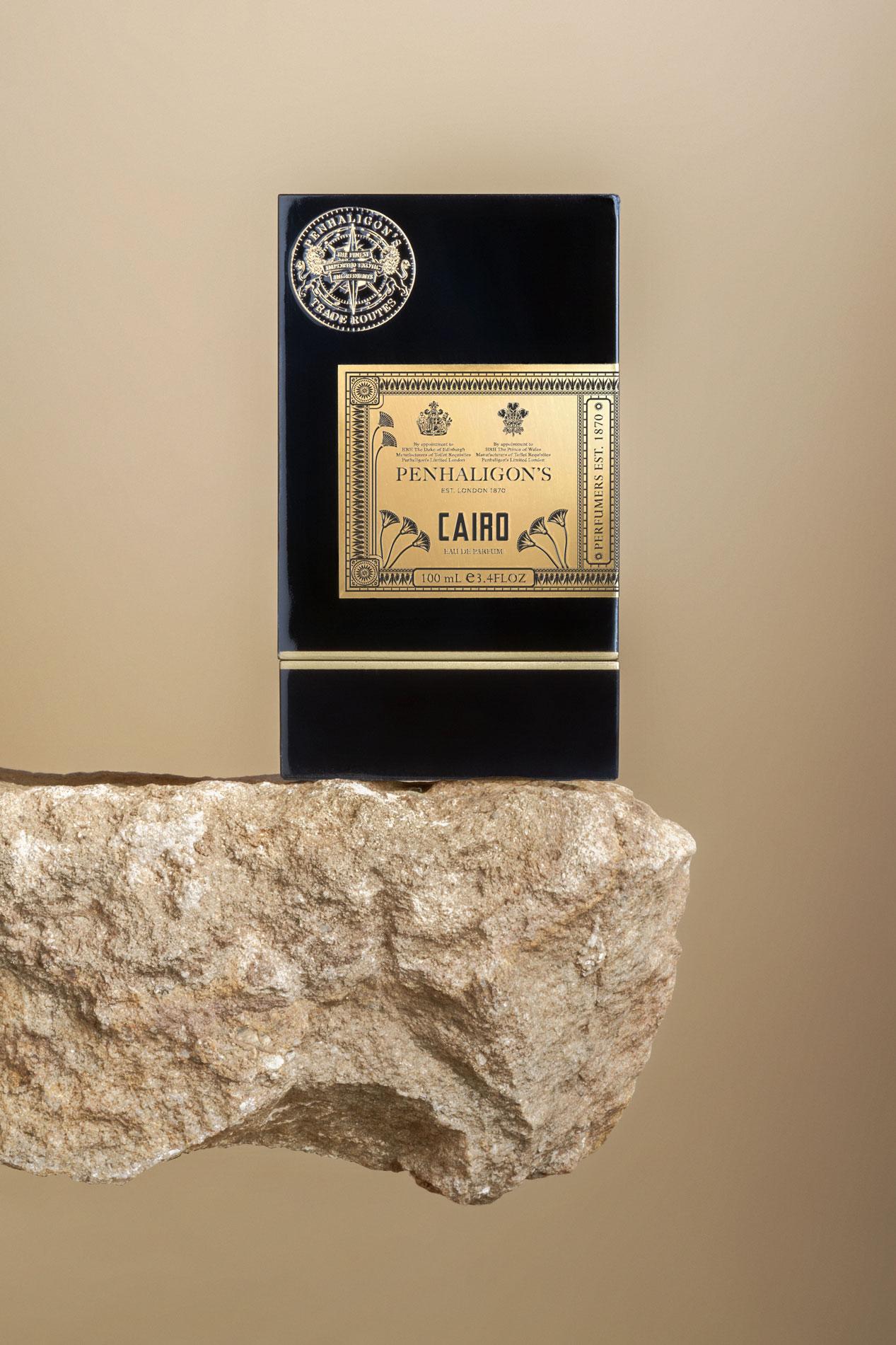 Perfume Cairo diseño embalaje